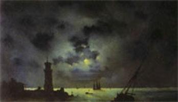 Берег моря ночью (И.К. Айвазовский, 1837 г.)