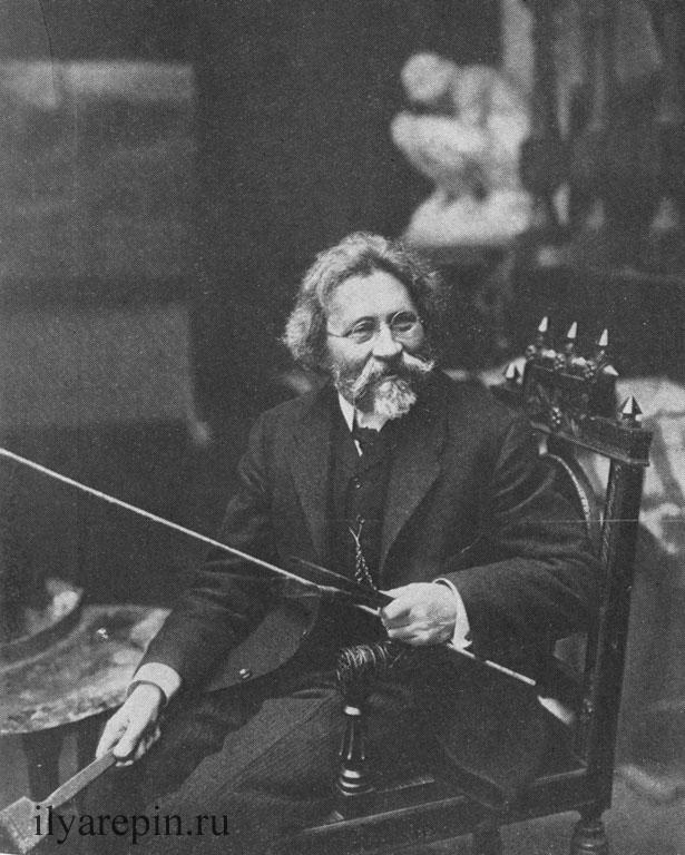 И. Е. Репин в мастерской. Фото 1910-х гг.