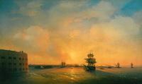Кронштадт. Форт Императора Александра (И.К. Айвазовский, 1844 г.)