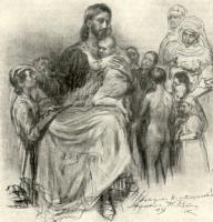 Эскиз надгробного памятника сыну А.В.Жиркевича.Рисунок.1897