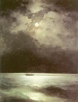 Черное море ночью (И.К. Айвазовский, 1870 г.)