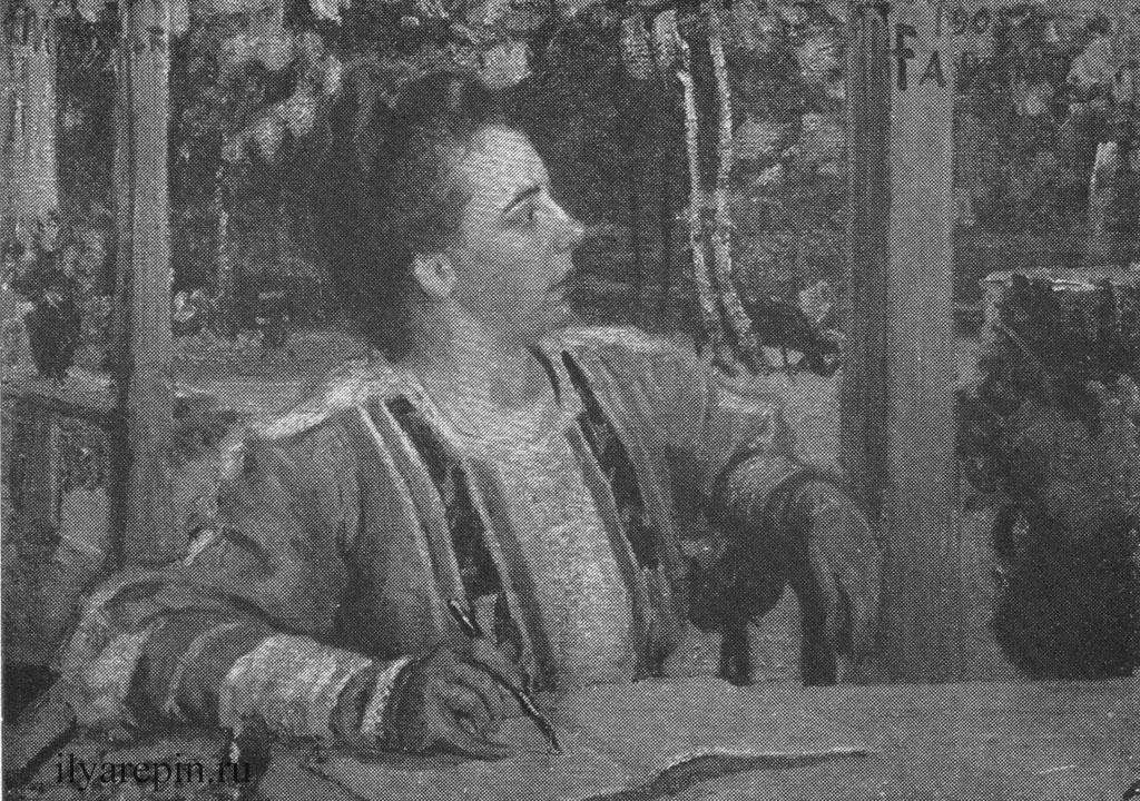 И. Е. Репин. Портрет Н. Б. Нордман (1905 г.).