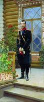 Портрет императора Николая II на крыльце. 1896