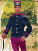 Молодой солдат. Парижский тип. 1870-е
