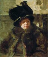 Портрет писательницы Наталии Борисовны Нордман-Северовой, жены художника. 1911