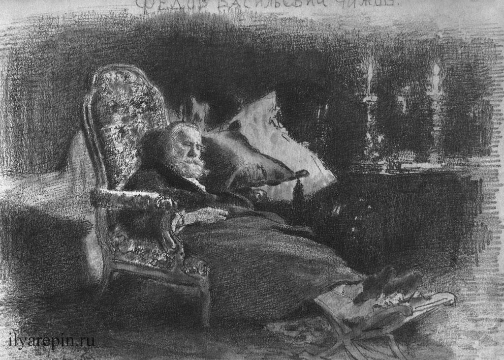 Мертвый Ф. В. Чижов. 18 ноября 1877. ГТГ