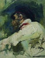 Мужчина в белом кителе. 1913