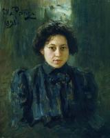 Портрет Н.И.Репиной, дочери художника. 1898