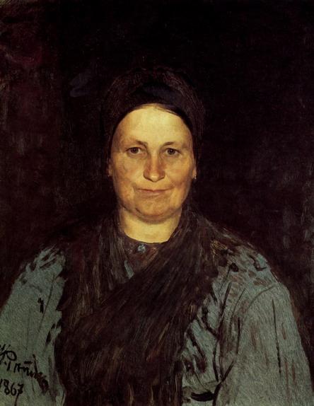 Портрет Т.С. Репиной, матери художника. 1867