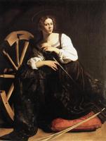"""Караваджо. Картина """"Святая Екатерина"""". 1595-1596 года"""