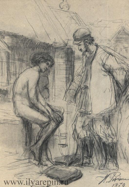 Иллюстрация к рассказу Толстого «Чем люди живы».