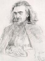 Портрет философа В.С.Соловьева. 1891