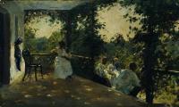 На террасе. 1908