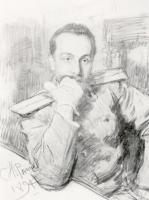 Портрет военного юриста и писателя А.В. Жиркевича. 1891