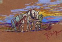 Везущая лошадь. 1892