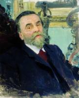 Портрет собирателя картин и рисунков русских художников И.Е.Цветкова. 1907