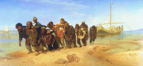 Бурлаки на Волге (И.Е. Репин, 1873 г.)