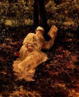 Л.Н. Толстой на отдыхе в лесу. 1891