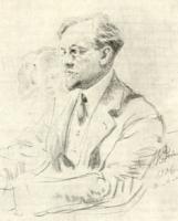 С.С. Боткин на заседании в Академии художеств. Рисунок 1906