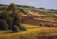 Картина Предгорья и Река