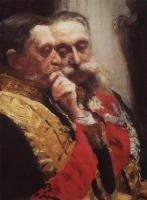Портрет И. Л. Горемыкина и Н. Н. Герарда, членов государственного совета. 1903