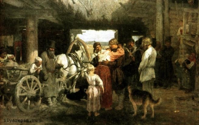 Проводы новобранца. 1878-1879