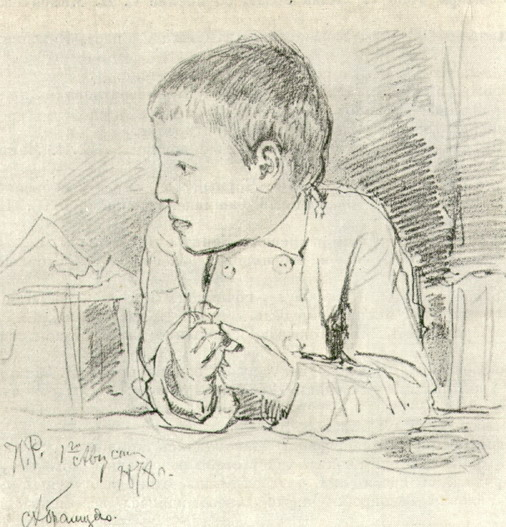 Всеволод Мамонтов в детстве. Рисунок. 1878