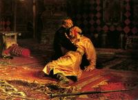 Иван Грозный убивает своего сына (И. Репин)