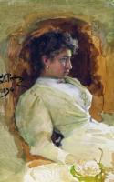 Портрет Н.И.Репиной. 1896