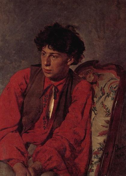Портрет В.Е. Репина, брата художника. 1867