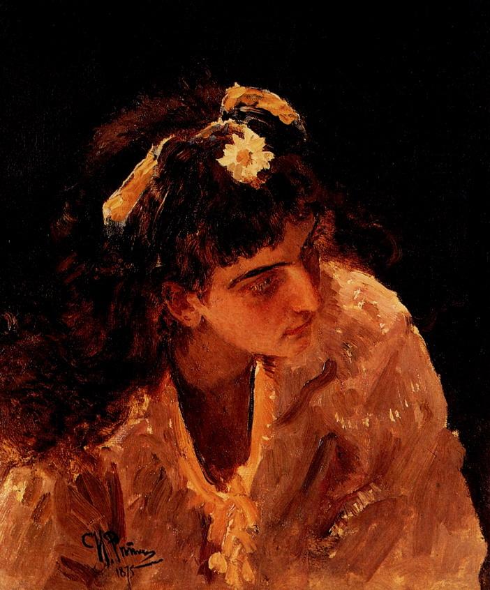 Женская голова. Этюд для картины Садко в подводном царстве. 1875