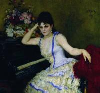 Портрет пианистки С.И.Ментер. 1887
