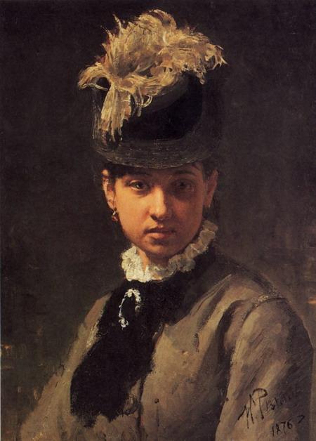 Портрет В.А. Репиной, жены художника. 1876