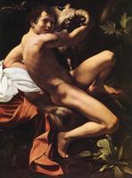 """Караваджо. Картина """"Святой Иоанн Хреститель"""". 1600 год"""