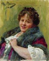 Портрет писательницы Т.Л.Щепкиной-Куперник. 1914