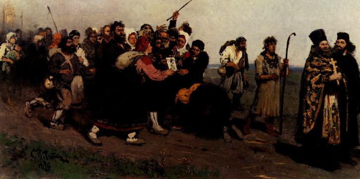 Крестный ход. Явленная икона. Эскиз. 1877