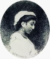 Женщина в чепце.