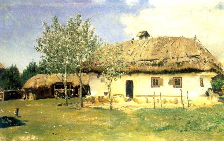 Украинская хата. 1880