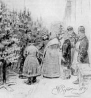Продажа елок. Рисунок. 1891