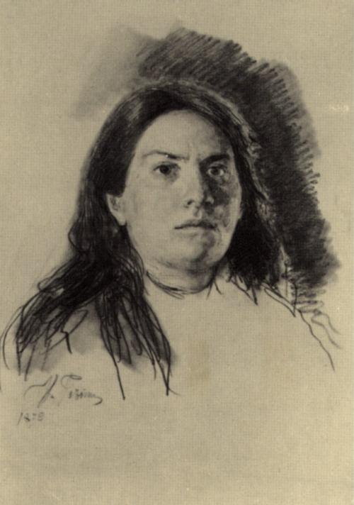 В.С. Серова. Этюд. 1879