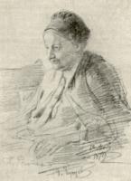 Т.С. Репина, мать художника. Рисунок 1879