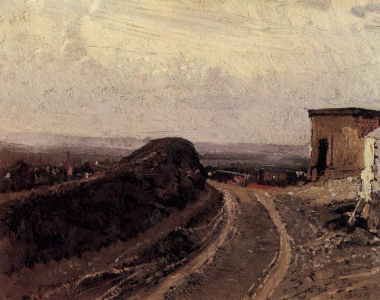 Дорога на Монмартр в Париже. 1876