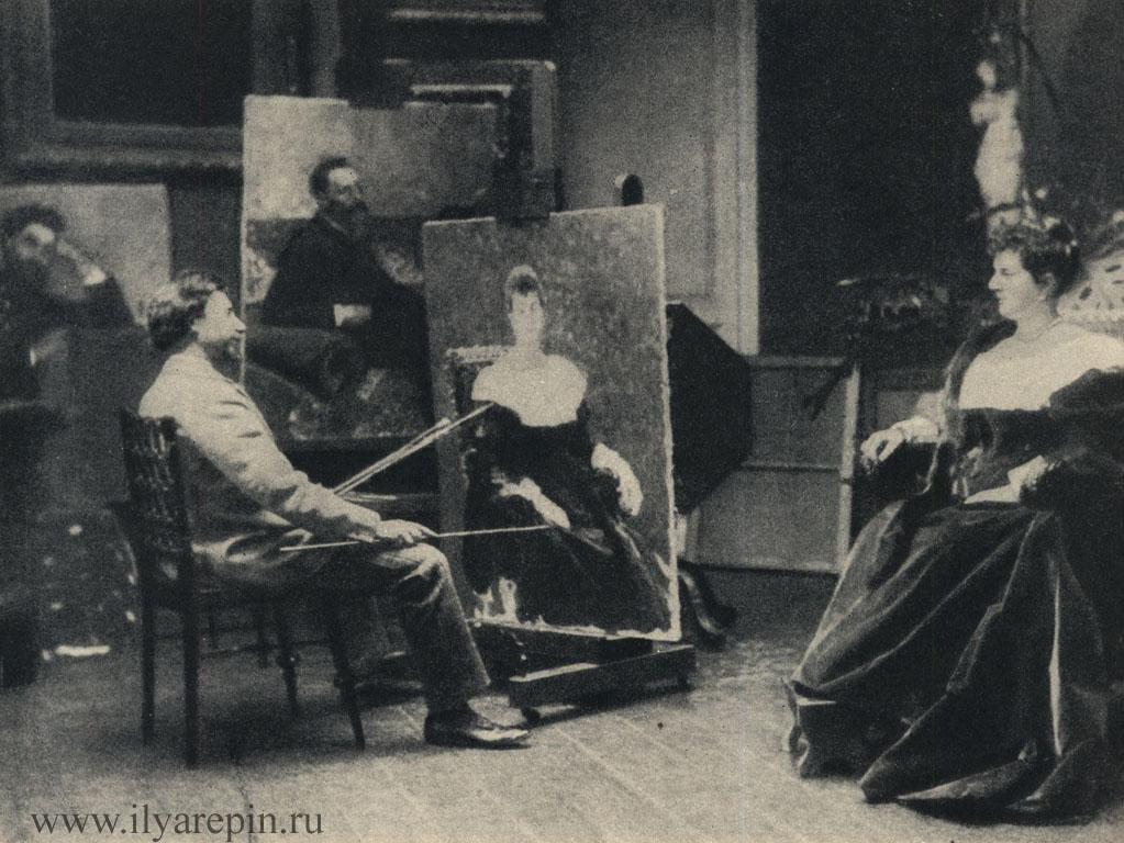 Репин в 1898 г. пишет портрет кн. М. К. Тенишевой. С фотографии того времени