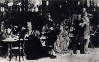 Парижское кафе. 1874-1875