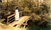 На мостике в парке 1879