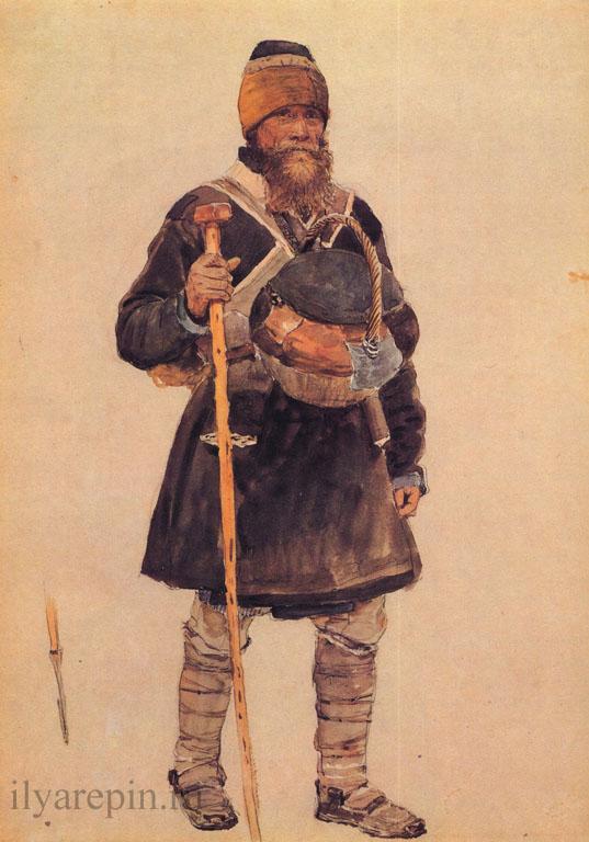 Паломник. Этюд. 1881