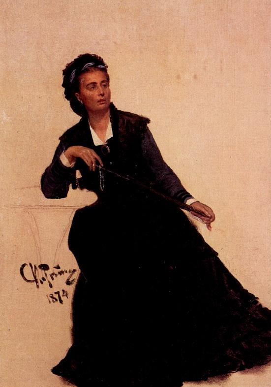 Дама, играющая зонтиком. Этюд для картины Парижское кафе. 1874
