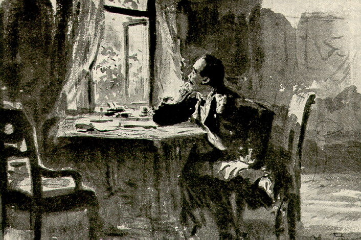 Иллюстрация к роману М.Ю. Лермонтова Герой нашего времени. 1890-е