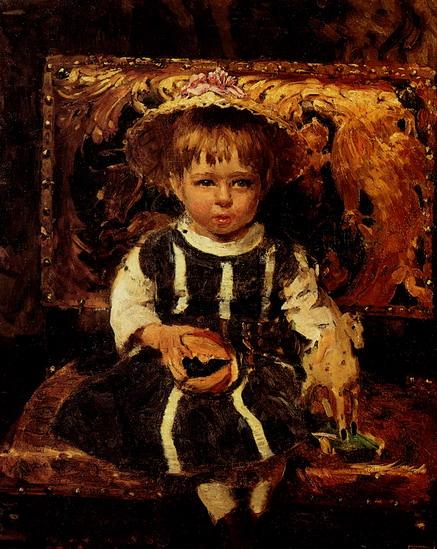 Портрет Веры Репиной, дочери художника в детстве. 1874