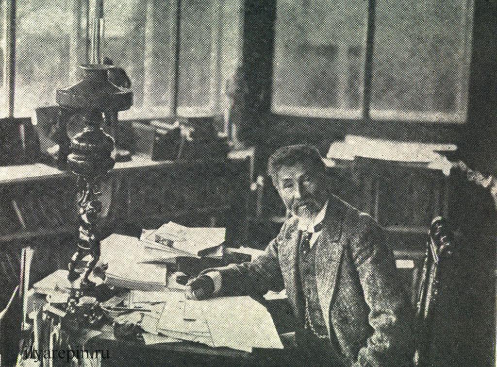 И. Е. Репин в кабинете. Фотография 1910-х гг.